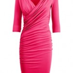 Isabella Oliver pink dress with sleeves