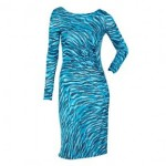 Style over 50 turquoise dress