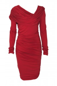 style over 50 red dress with sleeves image