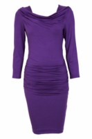Purple dress with sleeves image