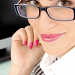make-up with glasses image