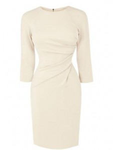 karen millen ivory dress with sleeves image