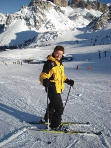 learning to ski after losing sight image