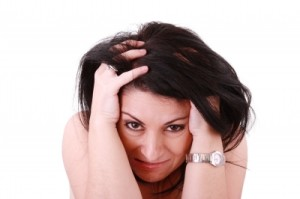 grieving woman image