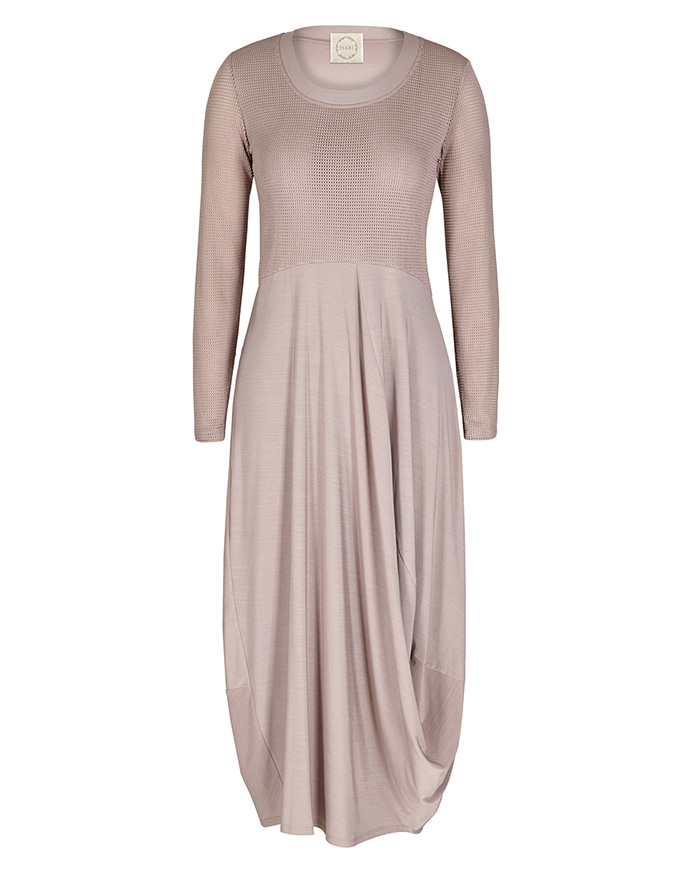 Dress With Sleeves - Draped AND Fitted