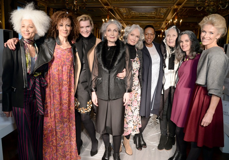 Models at 50plus fashion week