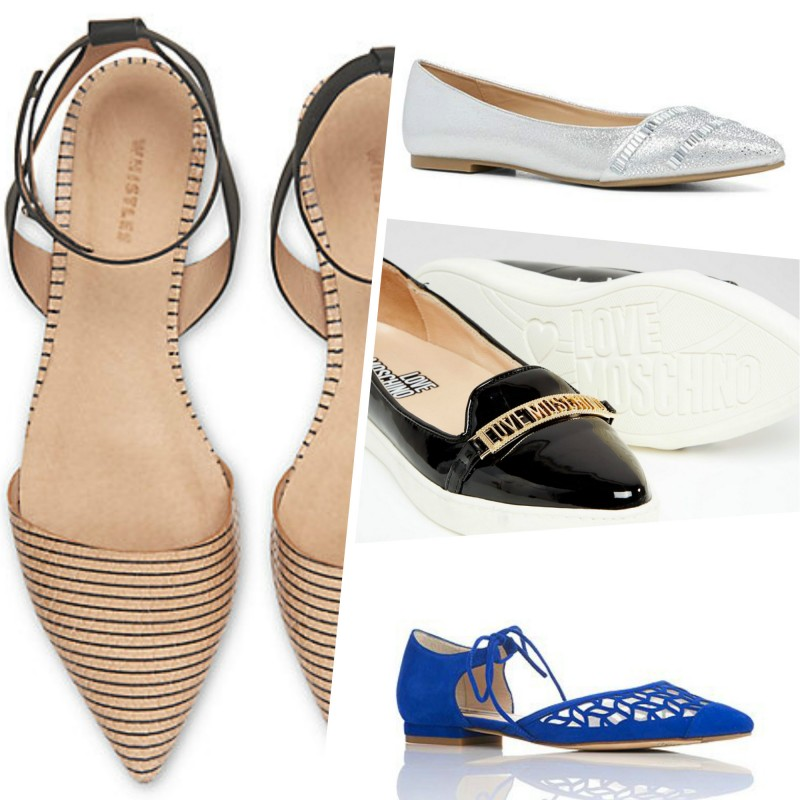 stylish flat pointy shoes image