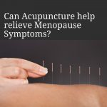 menopause symptoms relieved by acupuncture image
