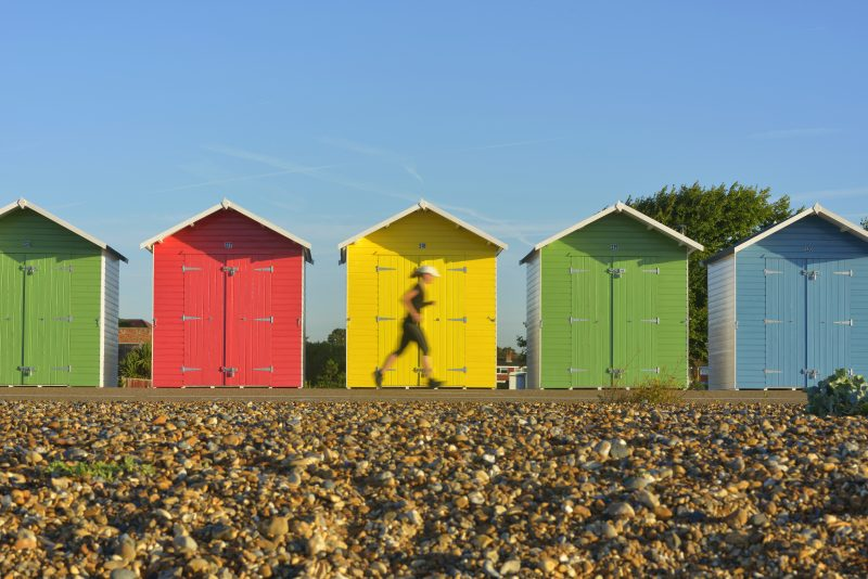 eastbourne beach huts image