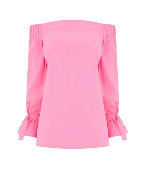 pink bardot top