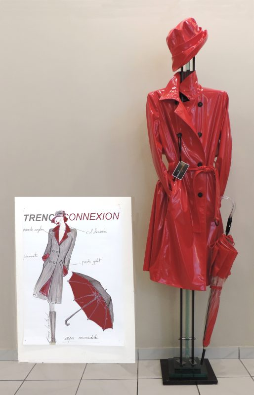 how French women wear trench coat image