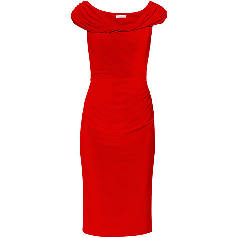 over 50 style red velvet dress