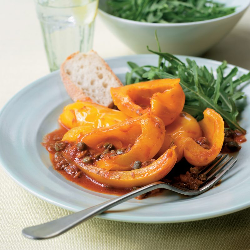 yellow peppers with capers image