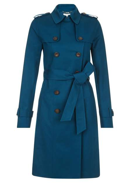 style over 50 petrol blur trench coat