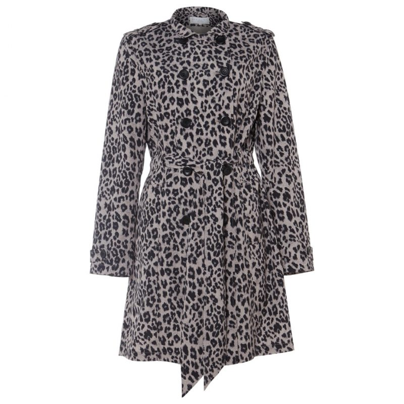style over 50 leopard print trench coat image