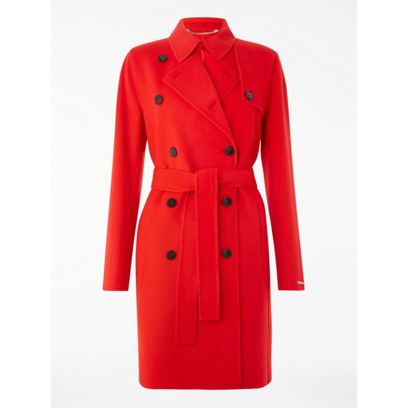 style over 50 red trench coat image