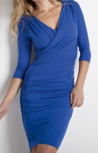 style over 50 flattering dress with sleeves and cover tummy image