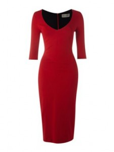 Stylish red dress  with sleeves image