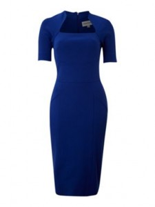 style over 50  blue dress with short sleeves