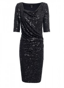 dress with sleeves and festive sparkle