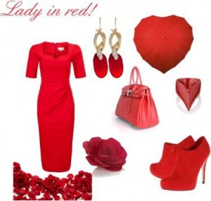 Valentines red outfits
