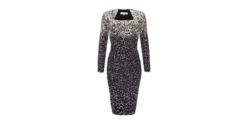 bodycon dress with clever print