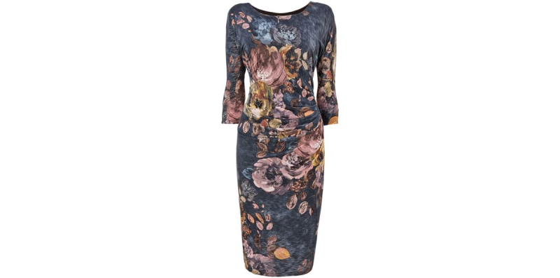 style over 50 floral dress with sleeves