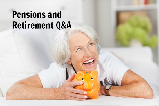 women pensions and retirement image