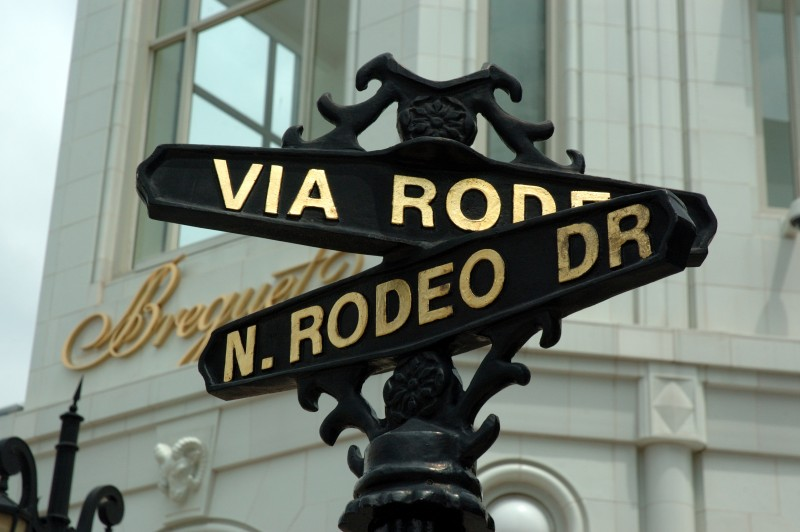 Rodeo Drive sign image