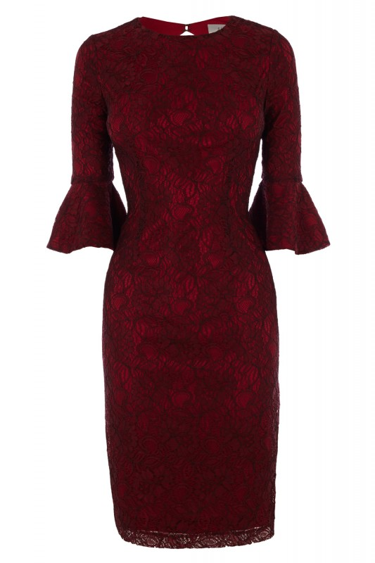 coast red lace dress