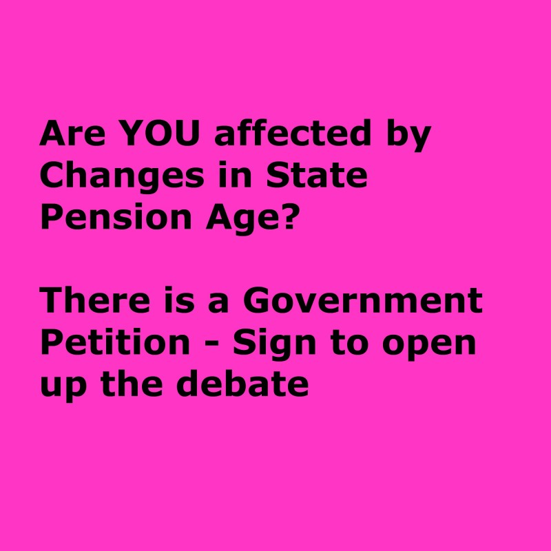 State Pension Age petition image