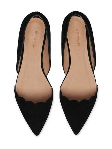 black pointed flat
