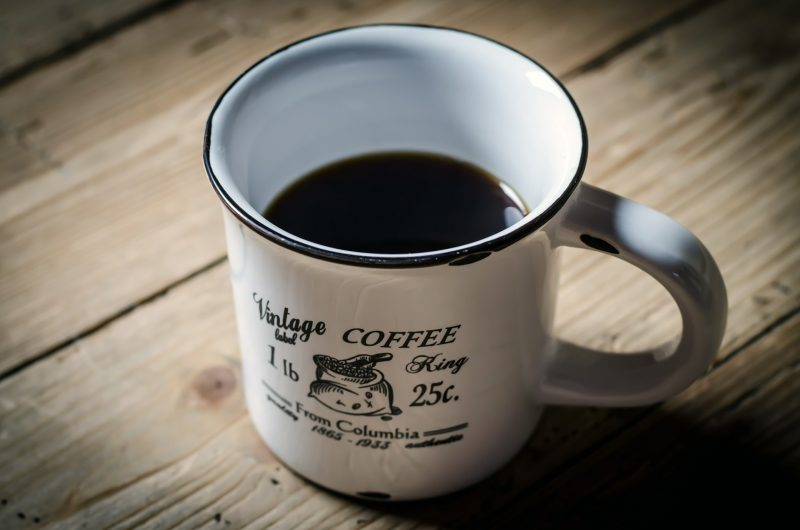 drinking coffee before bedtime image