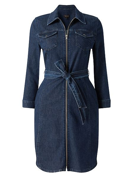 50plus style denim dress with sleeves