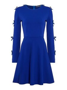 cobalt skatr dress with sleeves