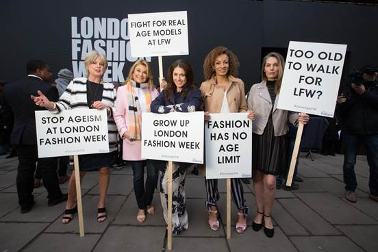 fashion has no age protest LFW