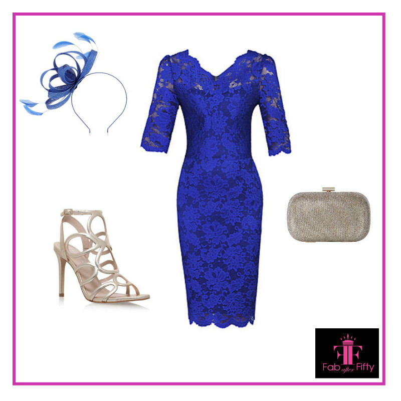 dresses with sleeves cobalt blue dress for wedding or races image