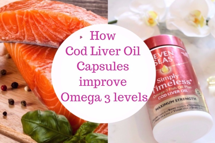 Increase omega 3 levels with cod liver oil capsules image