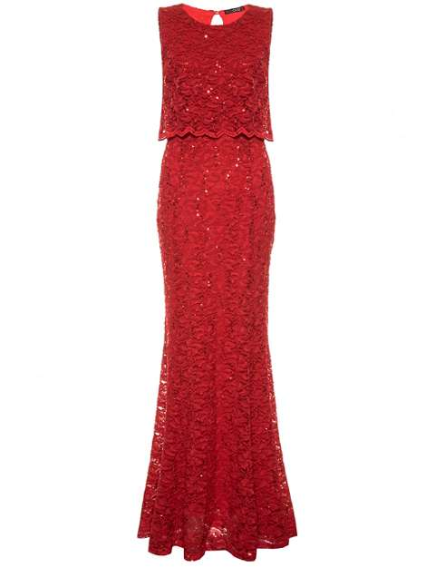 over 50 style red maxi dress