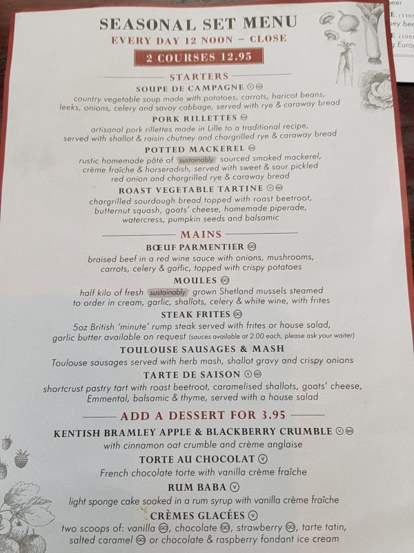 cafe rouge menu image