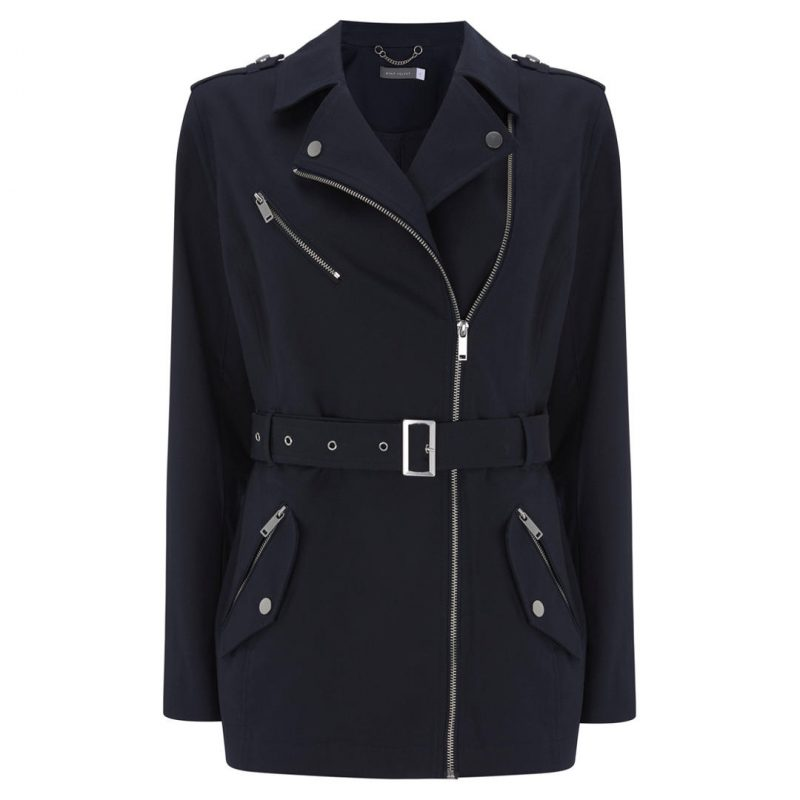 zip detailed zip trench coat image