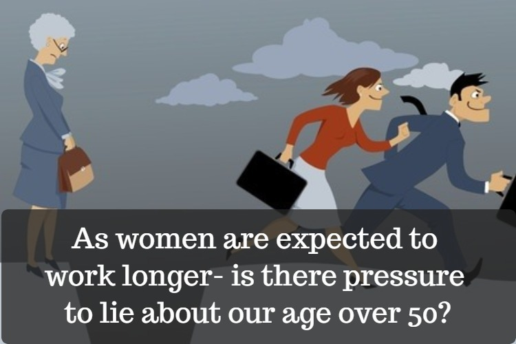 is there pressure  to lie about age over 50 at work image