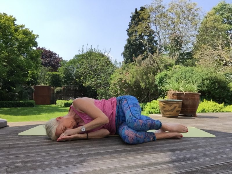 yoga recovery pose image