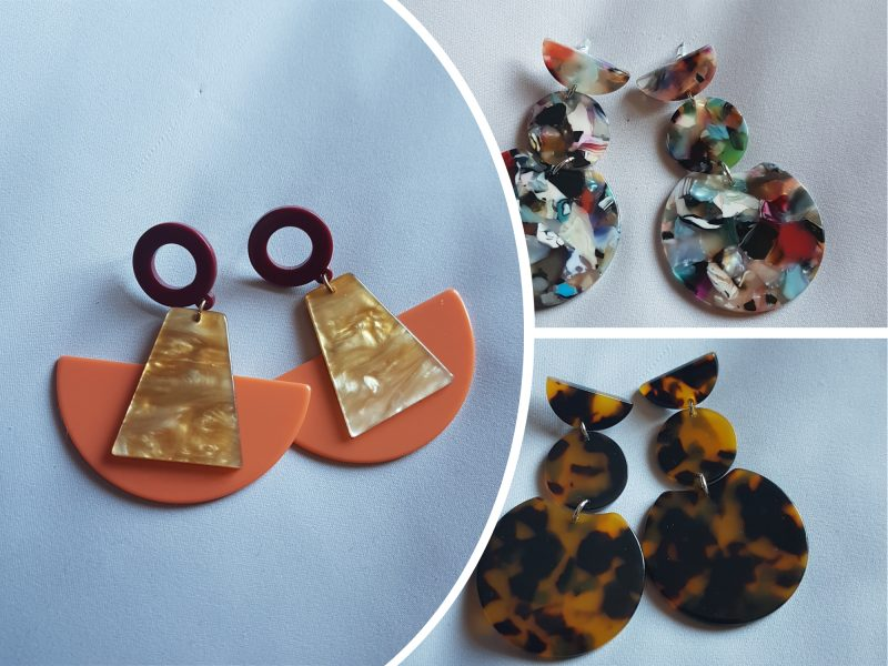 perspex earrings for quick style update