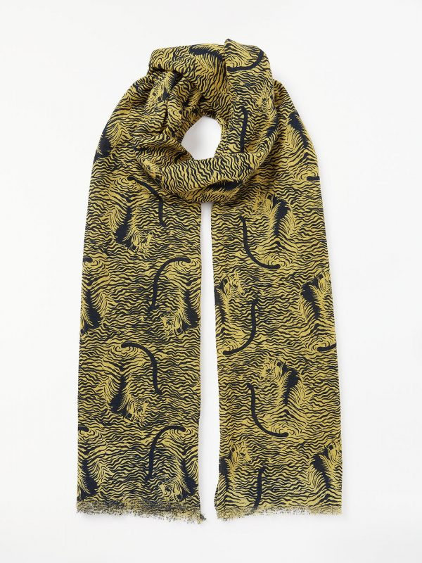 style over 50 tiger print scarf image