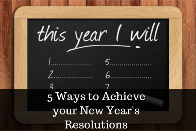 tips to achieve your New Year's Resolutions image