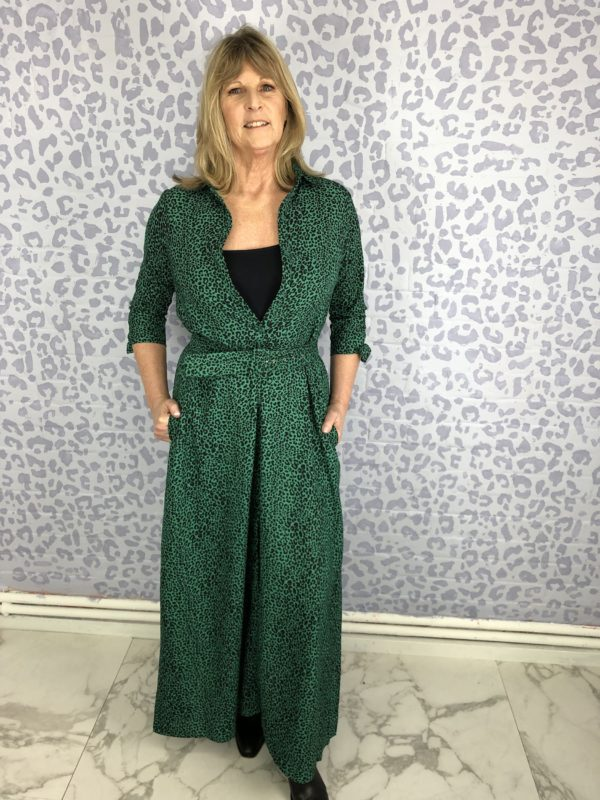 style over 50 green wrap dress image