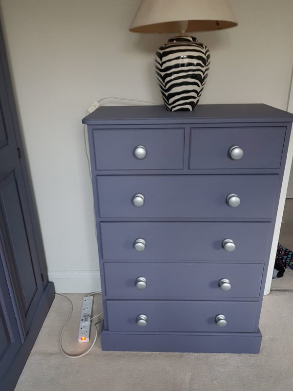 chest of drawers after upcycling
