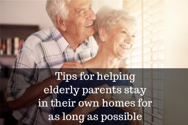 helping elderly parents live in home as long as possible image