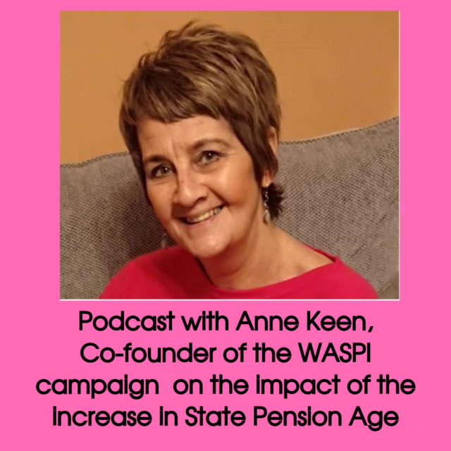 podcast with Anne Keen about the WASPI campaign image